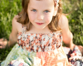 Sweet Grace Ruffled Headband- Snickerdoodle Stew for Izzy & Ivy Designs