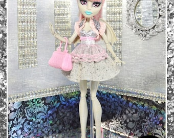 """Monster Doll """"Set in Stone"""" high fashion doll clothes dress"""
