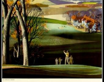 Art Print Golf Britain 1922 Poster Print 8 x 10
