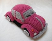 Amigurumi VW Beetle Volkswagen Inspired Bug Car Crochet Pattern PDF