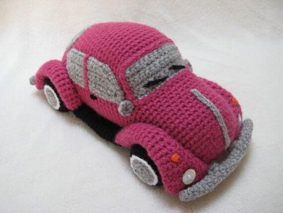 Amigurumi VW Käfer Volkswagen inspiriert Bug Auto von Millionbells