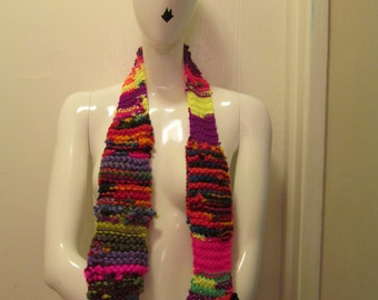 Abstract Recycled Scrap Scarf #1