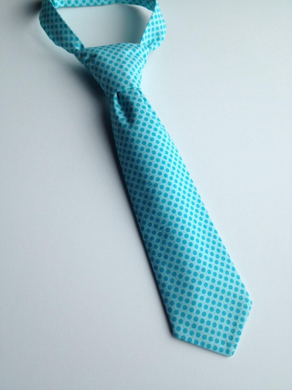 boys neck tie infant tie toddler necktie blue by