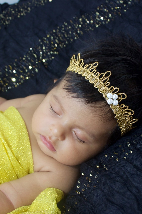 Baby Christmas Crown, Gold Crown, Baby Headband, Toddler Crown, Baby Girls Crown, Infant Crown, Crown for Babies, Crown Baby girls