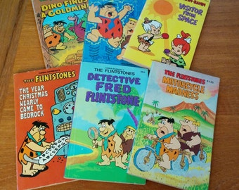 Flintstones Books Set of Six Vintage 70s/80s