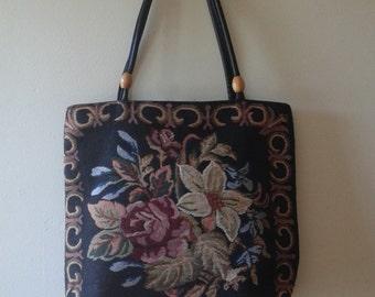 Vintage Tapestry Tote Bag