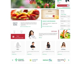 Custom Website Design For Diet, Nutrition and Health Based Business - Blog Feature - Ecommerce Ready - Wordpress Website
