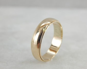Vintage Yellow Gold Wedding Band KUZD5J-R