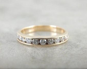 13 Diamond Yellow Gold Wedding Band 88C5YF-P