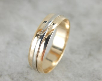 Vintage Keepsake Yellow and White Gold Band 8FHDD3-R