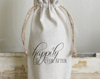Happily Ever After Wine Bag_wine, present, party favor, wedding favor, gift bag, party, hostess gift