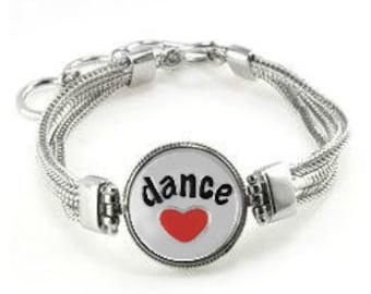 Dance Bracelet - Gift For Dancer - Dancer Bracelet - Dance Gift - Dancer - Dancer Jewelry - Dance Team Bracelet  - Dance Team Gift