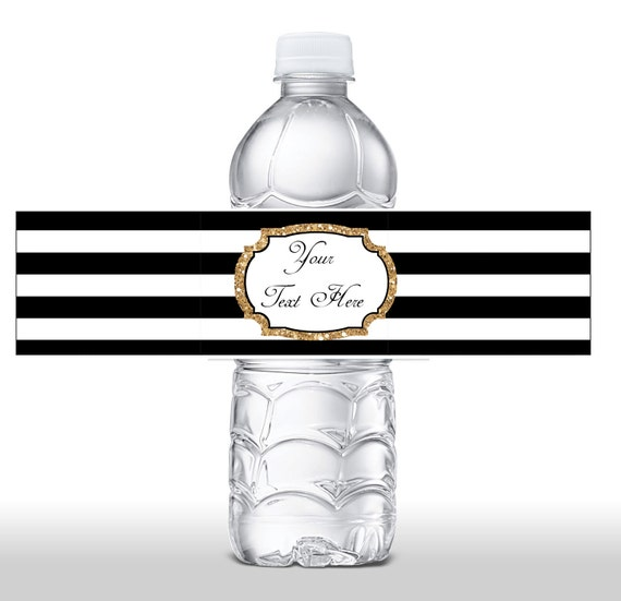Instant Download Black Amp White Stripe Gold Glitter Water
