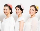 Freuchie - Pack de 5 Tocados para Damas de Honor, tocado de plumas para dama de honor, regalo para damas de honor, amigas de la novia