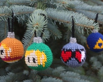 CROCHET PATTERN: Legend of Zelda Christmas Ornaments PDF