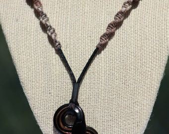 Black and Brown Snake Necklace