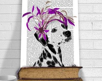 Dalmatian Gift Idea Dalmatian print Dalmation - Purple Facscinator - Dalmatian poster Dalmatian Wall Art Dalmatian décor Dalmation dog gift