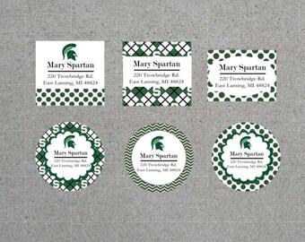 MSU Address label stickers (set of 48)