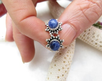 Sodalite Studs, Sterling Silver Posts, Sodalite Posts, Sodalite Earrings, Blue Stone Earrings, Semi Precious Gemstone Studs, Silver Studs,