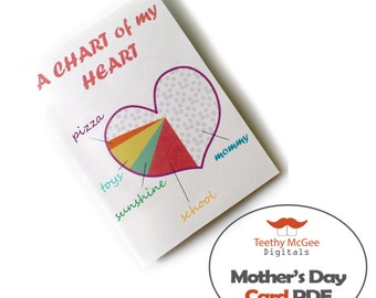 Mother's Day Card - Instant Download Printable PDF File