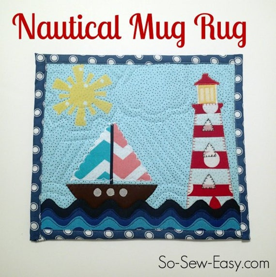 Nautical Mug Rug By PrintOrPlain On Etsy
