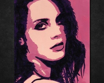 "Original LANA DEL REY Pop Art Painting - New, 6"" X 8"" - Hand-painted artwork. Lizzy Grant. Ray. Ultraviolence. Born to Die Singer. Honeymoon"