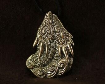 Dragons Couple Love bronze pendant necklace