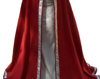 Long Fantasy SCA Ren trimmed Cloak