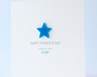Happy Fathers Day Card from the little Bump with detachable magnet keepsake
