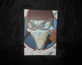 CLEARANCE The Joker comicbook panels small canvas