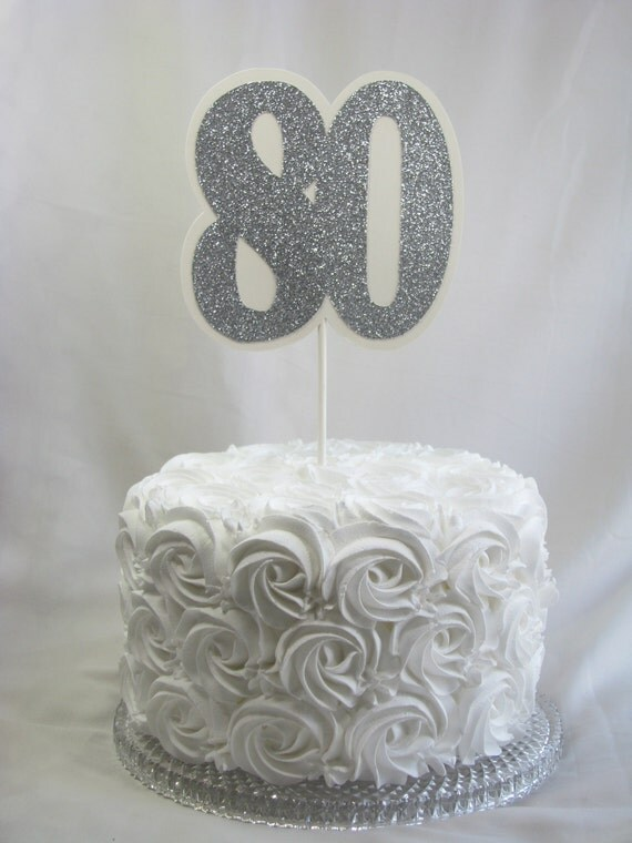 Items similar to 80th cake topper party decorations for Decoration 80 birthday