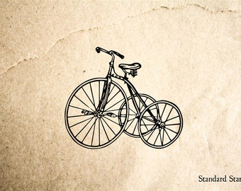 Tricycle Vintage Rubber Stamp - 2 x 2 inches