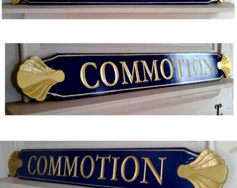 Custom Carved  Cape Cod Style Quarterboard(Name Boards)