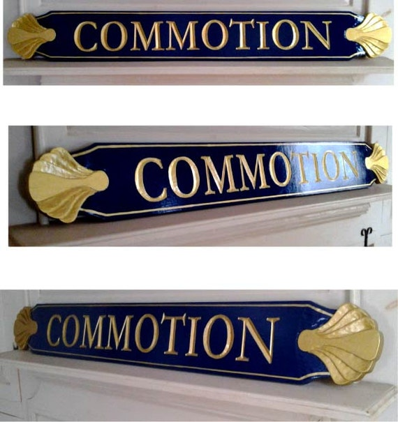 Custom Carved Cape Cod Style QuarterboardName Boards
