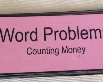 Word Problems. Counting money. teacher made resource. math.