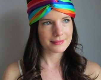 Rainbow Headband, #lovewins, Pride Headband, PFLAG Headband, LGBT Headband Turband,  Gay Pride Headband, Rainbow Flag Headband