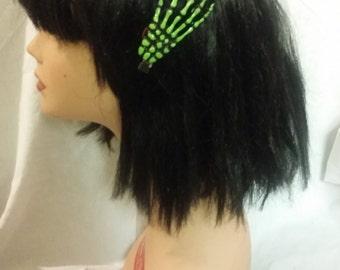 Skeleton Hand Clip, Creepy Hair clip, Rockabilly Hair clip, Skull Clip, Halloween Clip,  Halloween hair clip,Lady Skeleton Hand Hair Clip