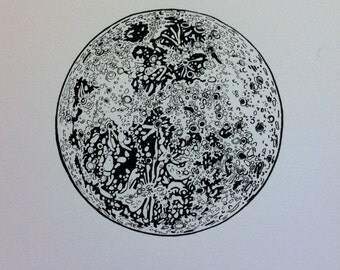 Full Moon Screenprint