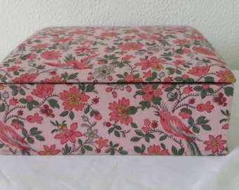 French fabric box in pink