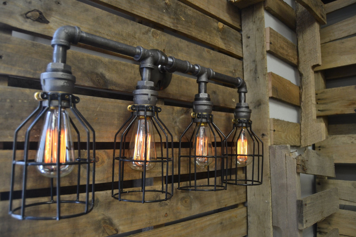 Vanity light edison light bathroom lighing industrial for Bathroom decor lights