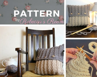 Knitting Pattern home decor - The Seafarer Cushion Cover, pdf pattern, home decor pattern, knitting patterns, knitted cushion, cushion cover