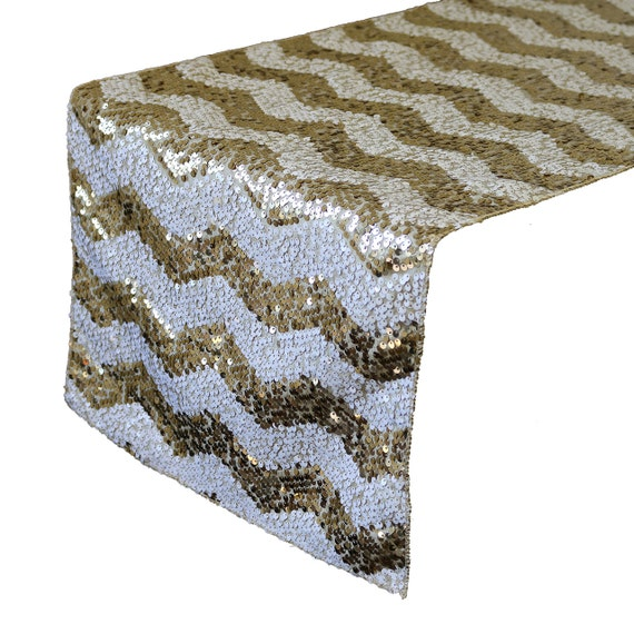 Yourchaircovers 14 x 108 inch chevron sequin table runner for 108 inch table runners