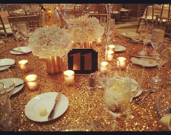 Gatsby Style Table Numbers