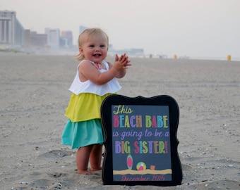 Beach Babe Pregnancy Reveal // Pregnancy Announcement // Beach Baby // Beach Babe // Beach Announcement // Beach Reveal // Big Sister