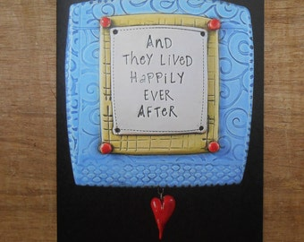 """Blank Notecard; """"And They Lived Happily Ever After""""; Greeting Card; Anniversary Card; Wedding; Engagement"""