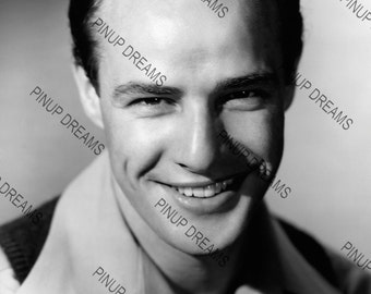 "Vintage A4 (11.7"" x 8.3"") Photo Wall Art Print of the 1950's Hollywood Legendary Star Marlon Brando"