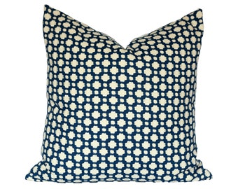 Celerie Kemble Betwixt Indigo/Ivory - Designer Pillow Cover - CHOOSE YOUR SIZE