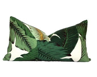 Banana Palm lumbar pillow cover - Palm Beach, Hollywood Regency, Tropical, Hawaiian