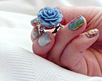 Filigree Flower Rings