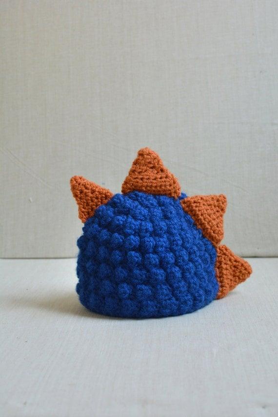 Crochet Baby Dinosaur Beanie Pattern : Crochet Baby Dinosaur Hat Baby Dino Hat Size 0-3 Months